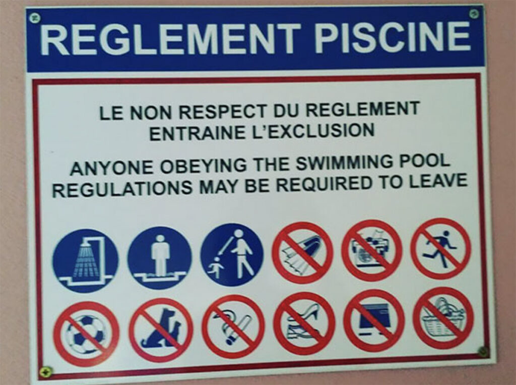 Reddit Funny Mistranslations 6 Anyone obeying the swimming pool